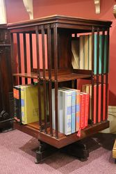 Antique Inlaid Mahogany Revolving Bookcase