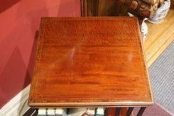 Inlaid Mahogany Revolving Bookcase