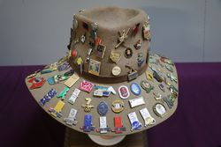 HeadHat With Approx 140 Enamel Badges
