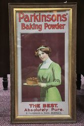 Antique ParkinSon's Baking Powder Framed Adv. Card #