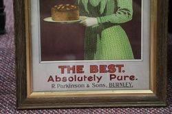 Antique ParkinSonand39s Baking Powder Framed Adv Card