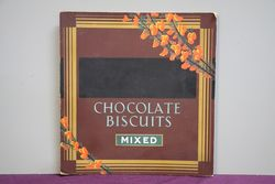 Chocolate Biscuits Mixed Shop Advertising Card. #