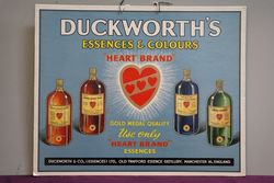 Duckworth's Essences & Colours Advertising Card Sign #
