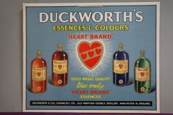 Duckworth's Essences & Colours Card Advertising Sign #
