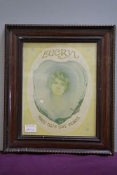 Eucryl Smoker´s Tooth Powder Framed Advertising Card #
