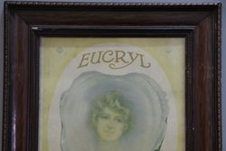 Eucryl Smokers Tooth Powder Framed Advertising Card