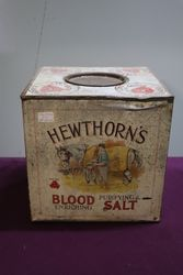 Hewthorn's Tin Blood Enriching Purifying Salt Tin.#