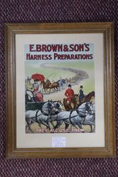 E. Brown + Sons Harness Preparations Framed Card #