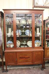 Quality Edwardian Single Door Display Cabinet .#