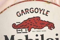 Early Mobiloil Gargoyle Double Sided Enamel Sign