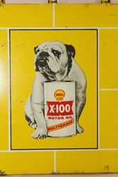 Miniture Shell X100 Bulldog Tin Sign
