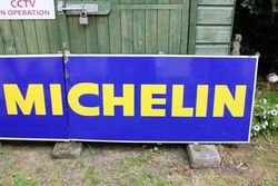 Large Michelin 2 Piece Enamel Advertising Sign
