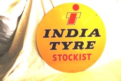 India Tyres New Old Stock Tin Sign
