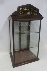 Antique Cadburyand39s Chocolate Counter Top Display Cabinet