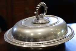 English Bead Edge Dish C1890 EPNS Silver