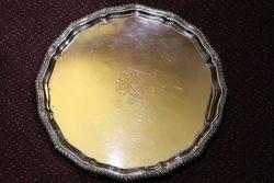 Antique Silver Plated Salver C1900-20  #