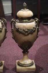 Antique Pair Of French Louis XVI Style Marble Urns