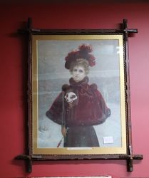 Antique Framed Print andquotA Lucky Dogandquot