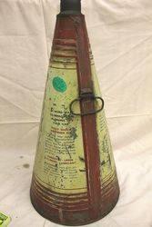 Mobiloil Gargoyle Conical Oil Can