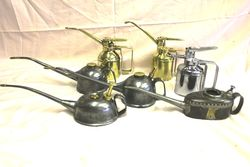 Selection of Brass and Metal Oilers