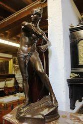 Large C19th Bronze Figure by H Peinte