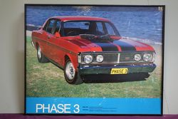 Framed Ford Falcon XY GT-HO Phase 3 Pictorial Print. #