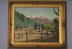 Decorative Gilt Framed 20th Century Original Oil Paining #