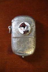 Antique Birmingham Silver 1891 Rare Vesta Sovereign Case