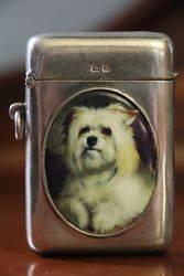 Antique Birmingham Silver 1917 Vesta. Cigarette Lighter  #