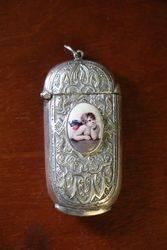 Antique Victorian Sterling Silver Vesta Case, #