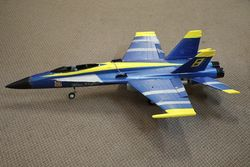 F18 Hornet US Navy Blue Angels Fighter Plane Styrofoam Toy
