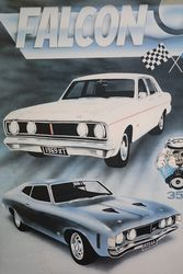 Ford Falcon Legends Sign