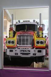 Mack Truck Framed Advertising Bar Mirror.#