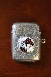 Antique Sterling Silver Vesta Case Birmingham 1911 #