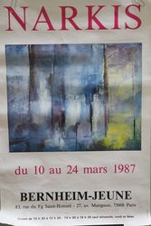 Art Poster Narkis French Dated March 1987