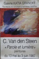 French Art Poster C. Van Den Steen  Paris 1987