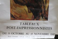 French Art Poster Tableaux Post Impressionnistes Paris 1987