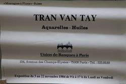 French Art Poster Tran Van Tay  Paris 1984