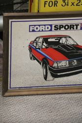 Decorative Mirror Pub Car Memorabilia Vintage Ford Sport XD Falcon