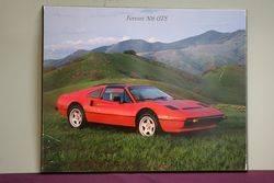 Ferrari 308 GTS Pictorial Advertising Framed Poster on Board.