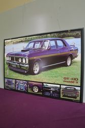 Ford GTHO Phase 3 Pictorial Advertising Framed Poster