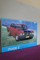 Ford GTHO Phase 3 Pictorial Advertising Framed Poster