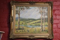 Australian Landscape Oil By Maurice Redding #