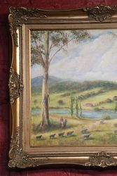 Australian Landscape Oil By Maurice Redding
