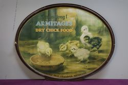 Armitage Dry Chick Food Tin Advertising Sign #