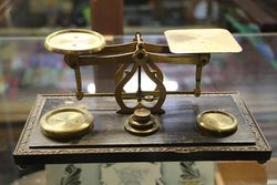 Victorian Brass Letter Postal Scales  #