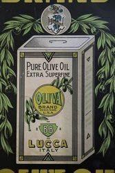 Oliva Brand Advertising Cardboard Sign