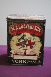 M.A.Craven & Son York England Pure Confectionery Tin #