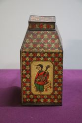 Tea Canister In Japanese Style Tin #