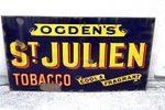Vintage ST Julian Tobacco Enamel Adv Sign.